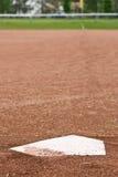 Домашняя плита на диаманте бейсбола Стоковое Изображение RF