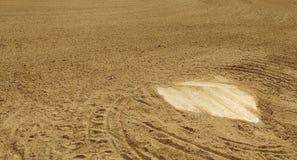 Домашняя плита диаманта бейсбола Стоковое Изображение