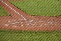 Домашняя плита на поле бейсбола Стоковые Фотографии RF