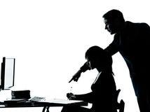 Домашняя работа подростка девушки студента учителя отца человека Стоковое Изображение