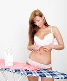 домашняя работа сексуальная Стоковое фото RF