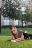 домашняя работа снаружи Стоковое Изображение