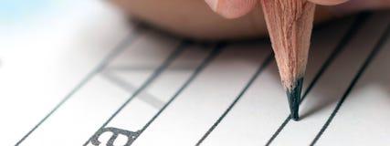 Домашняя работа учить принципиальной схемы учить алфавита почерк s Стоковое Изображение RF