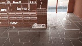 Домашняя реновация, предпосылка концепции развития дома, дизайн интерьера под конструкцией, изготовленным на заказ дизайн-проекто бесплатная иллюстрация
