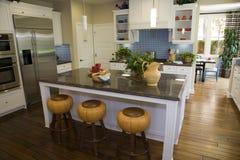 домашняя роскошь кухни самомоднейшая Стоковые Изображения RF
