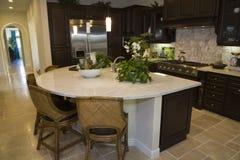 домашняя роскошь кухни самомоднейшая Стоковое Изображение