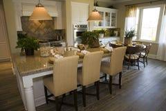 домашняя роскошь кухни Стоковое Изображение