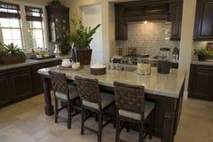 домашняя роскошь кухни Стоковые Фото