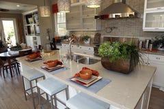 домашняя роскошь кухни стоковые изображения rf