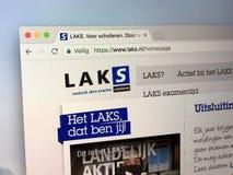Домашняя страница голландских национальных зрачков школы комитета действия Стоковые Фотографии RF