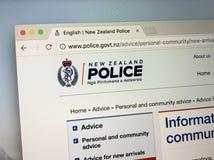 Домашняя страница полиции Новой Зеландии стоковое фото rf