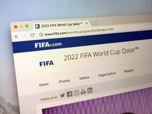 Домашняя страница ФИФА com - ФИФА Стоковое Изображение RF