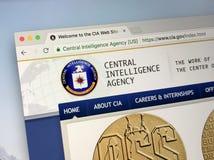 Домашняя страница Центрального Разведывательного Управления - ЧИА должностного лица Стоковые Изображения RF