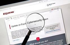 Домашняя страница Equifax Канады Стоковые Изображения