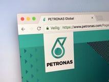 Домашняя страница Petronas Стоковые Фотографии RF