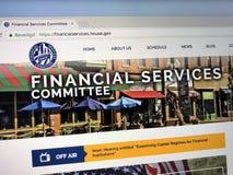 Домашняя страница u S Комитет дома на финансовых обслуживаниях Стоковое Изображение