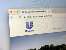 Домашняя страница Unilever Стоковое Фото