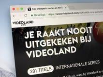 Домашняя страница videoland стоковое фото rf