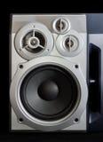 Домашняя трехсторонняя акустическая система на темной предпосылке Стоковые Изображения RF