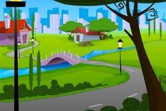 домашняя улица Иллюстрация вектора
