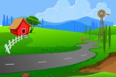 домашняя улица Иллюстрация штока