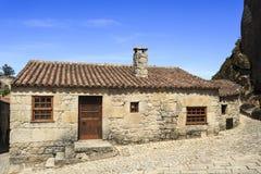 Дома †Sortelha «средневековые каменные Стоковая Фотография RF