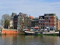 Дома Амстердама, Нидерландов Стоковое Фото
