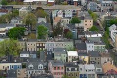 Дома Бостона Charlestown, Массачусетс, США Стоковые Фото