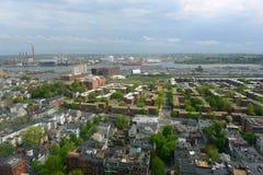 Дома Бостона Charlestown, Массачусетс, США Стоковое Изображение