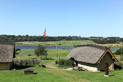Дома Викинга в Hobro, Дании Стоковая Фотография RF