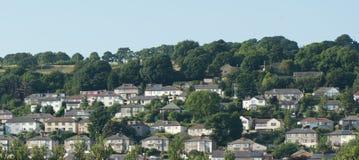 Дома вида с воздуха, жилой массив, развитие Стоковые Фото