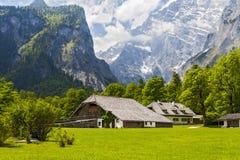Дома в Альпах Стоковое Изображение