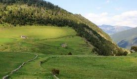 Дома в горах Андорры Стоковые Фотографии RF