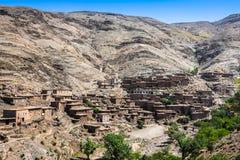 Дома в горах близко к Imlil в национальном парке Toubkal, Стоковое фото RF