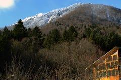 Дома в горах в зиме Стоковые Фотографии RF