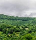 Дома в деревне в горах Стоковое фото RF