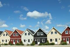 Дома в деревне в Дании Стоковые Изображения