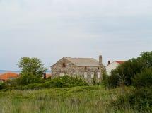 Дома в деревне на острове Olib Стоковое Изображение RF