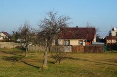 Дома в деревне Стоковые Изображения RF