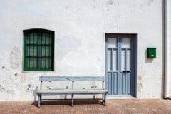 Дома в деревне Almadraba Monteleva, около эксплуатирования соли в природном парке Cabo de Gata, Альмерии, Стоковые Изображения