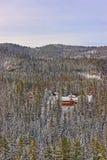 Дома в лесе в Kasprowy Wierch в Zakopane в Tatras внутри Стоковое Изображение