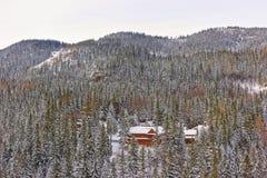Дома в лесе в Kasprowy Wierch Zakopane в Tatras внутри Стоковые Фотографии RF