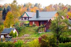 Дома в лесе Стоковые Фото