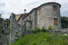 Дома в жужжании, Хорватия Стоковые Фотографии RF