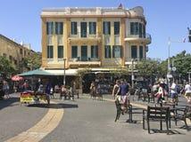 Дома в исторической части Тель-Авив, Израиля стоковая фотография rf