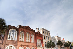Дома в историческом Чарлстоне, Южной Каролине Стоковая Фотография