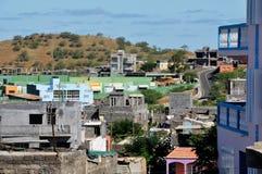 Дома в конструкции в городе Sao Filipe Стоковые Фото
