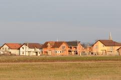Дома в конструкции стоковые изображения rf