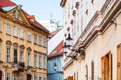 Дома в старом городке Братиславе Стоковое фото RF