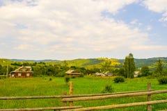 Дома в украинской деревне Стоковое Изображение